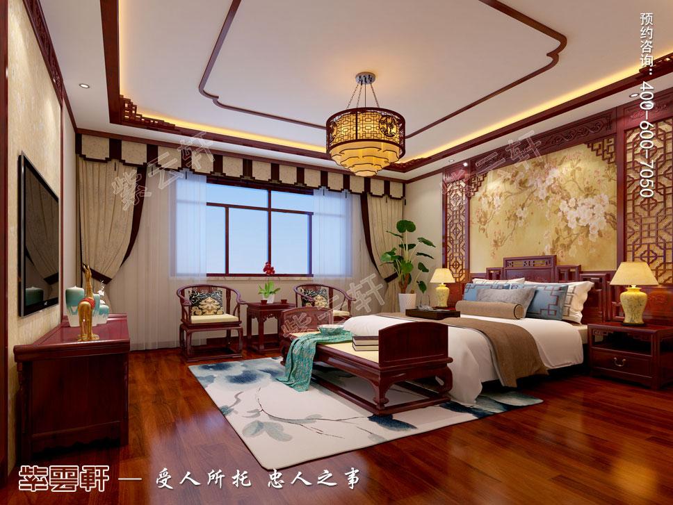 别墅主卧现代中式装修效果图