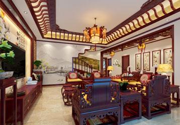 唐山别墅现代中式装修效果图 明媚婉约 清丽无俦