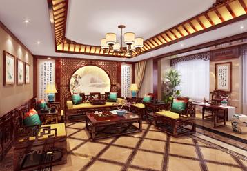 许昌平层现代中式装修风格效果图 清丽自然 别富韵味