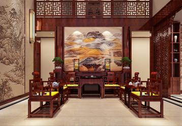 南通启东豪宅现代中式风格装修图片  清和的典雅 卓然的时尚
