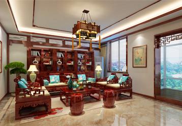 武汉大平层现代中式风格装修案例 中式审美的盛宴