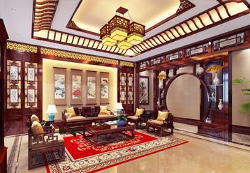 天津江南城简约古典中式风格效果图 雍容儒雅 端庄温婉