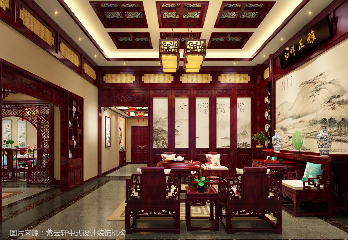 中式装修效果图 客厅