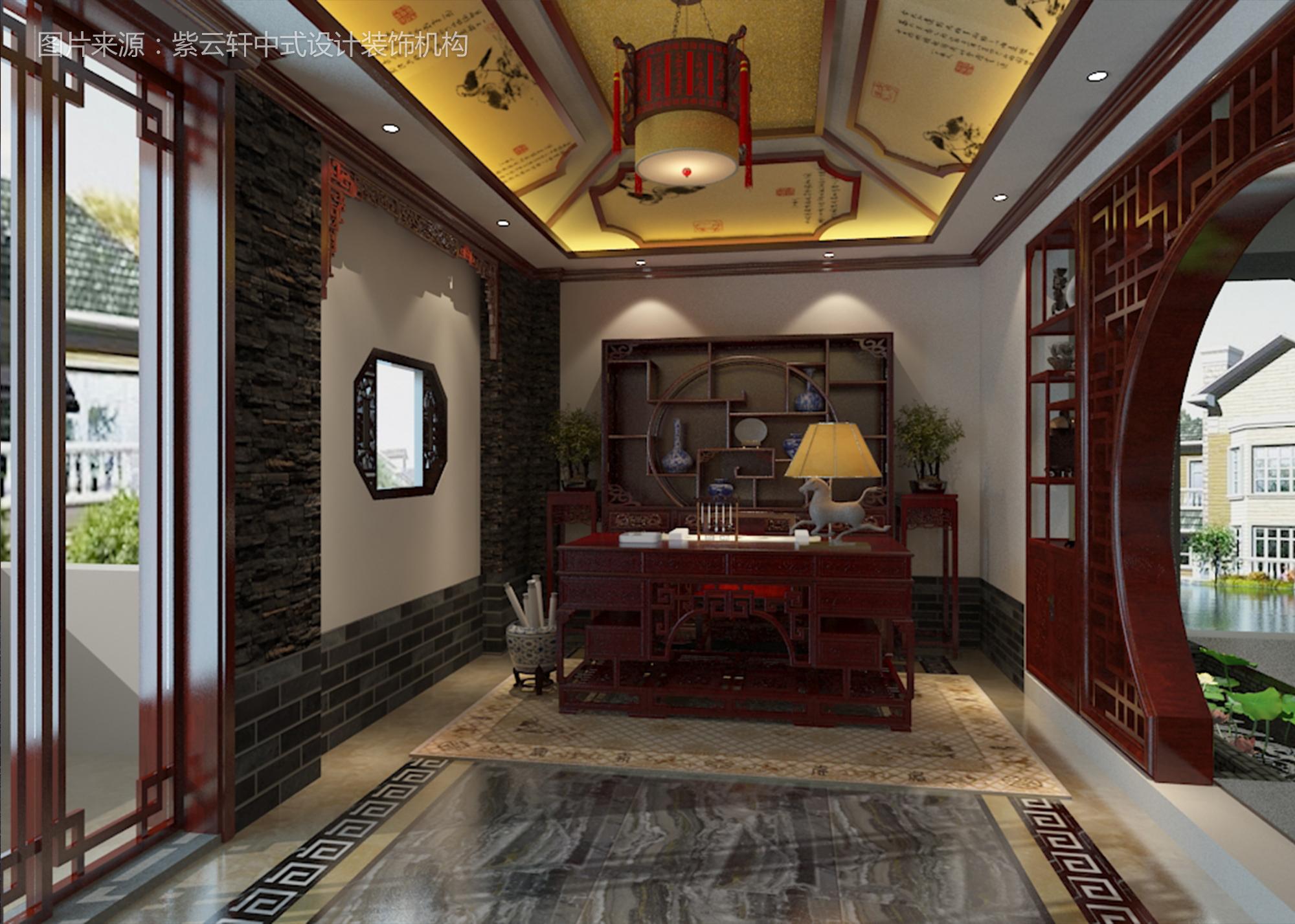 古典中式装修风格 客厅效果图
