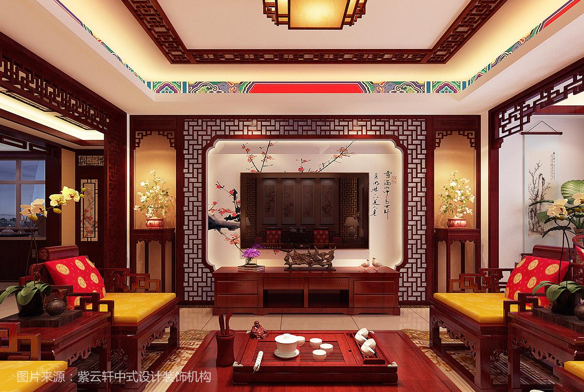 中式装修电视墙效果图
