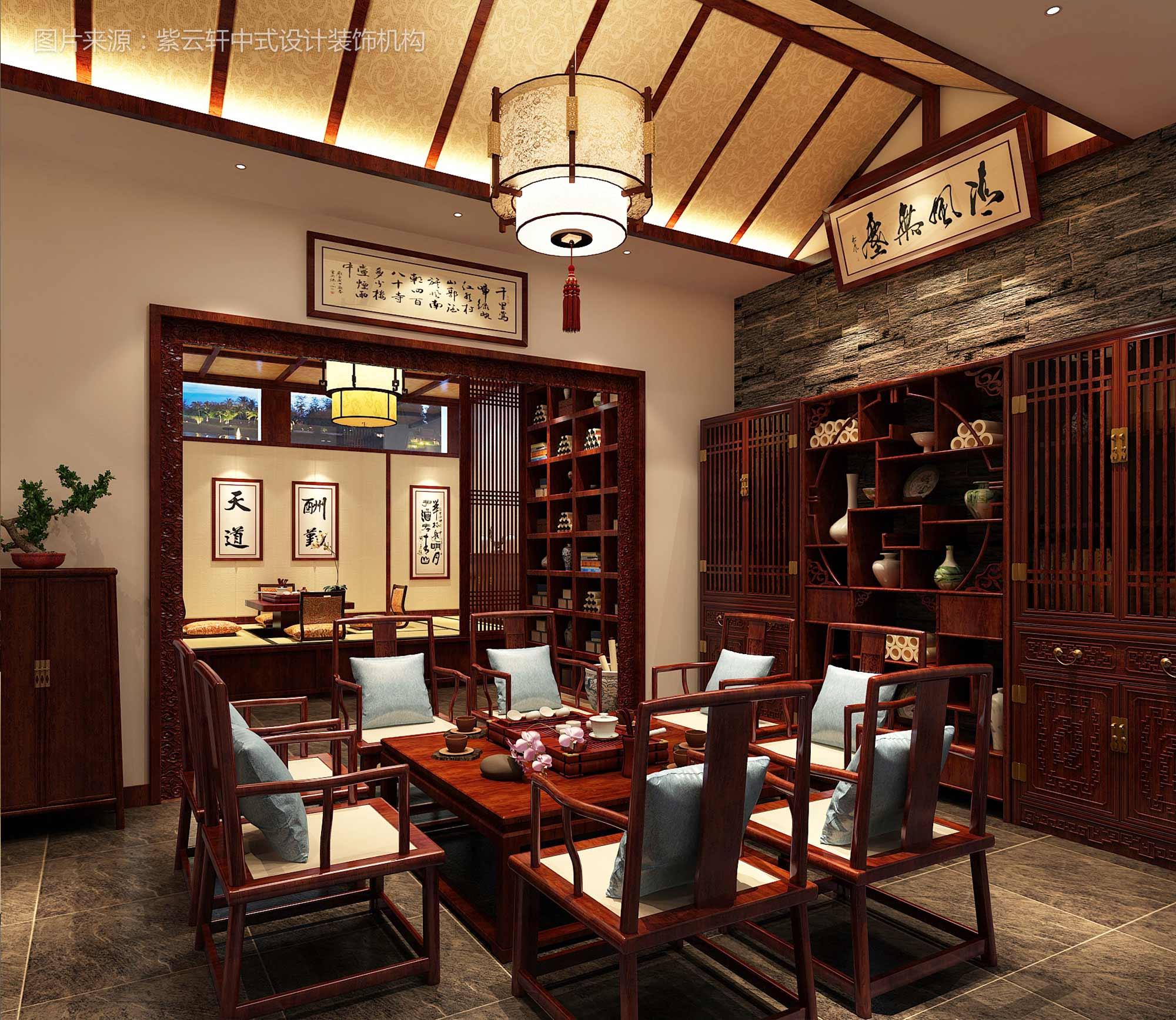 茶室和餐厅的中式装修风格