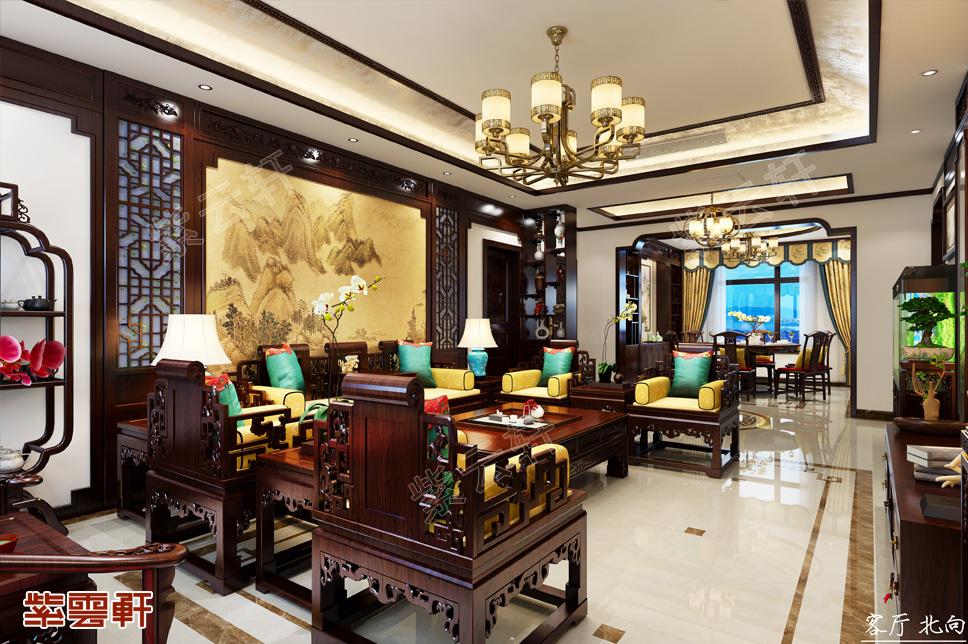 河北现代中式复式豪宅效果图 儒雅气质 俊逸风格