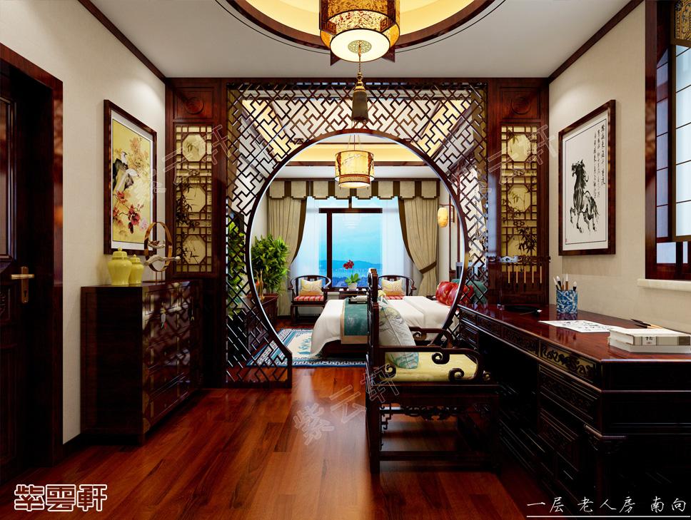 黄骅别墅现代中式风格装修效果图 蔚然深秀 华贵不俗