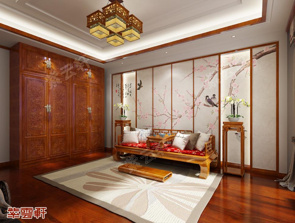 新疆伊犁刘先生平层中式装修古典华丽、美轮美奂