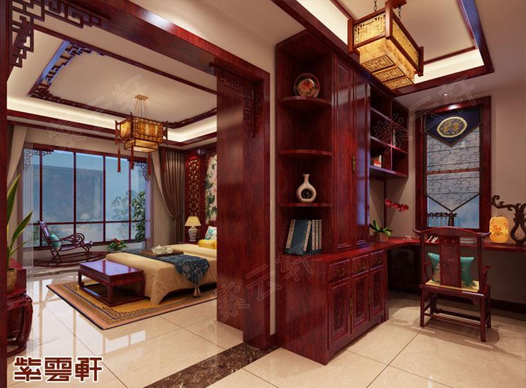陕西榆林市平层中式装修 多娇的江山
