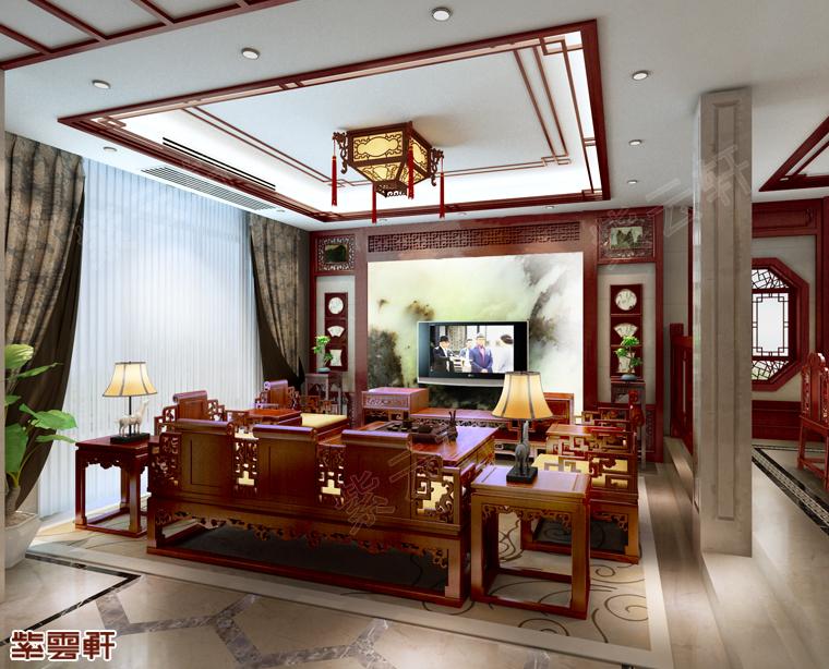 江西南昌别墅中式装修 最贴近自然的古典风味