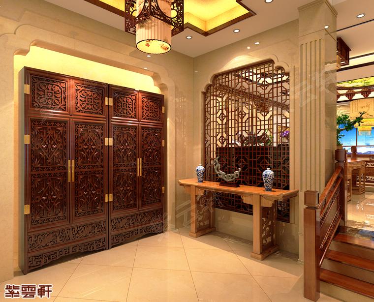葫芦岛市简约别墅中式装修 轻奢雅致