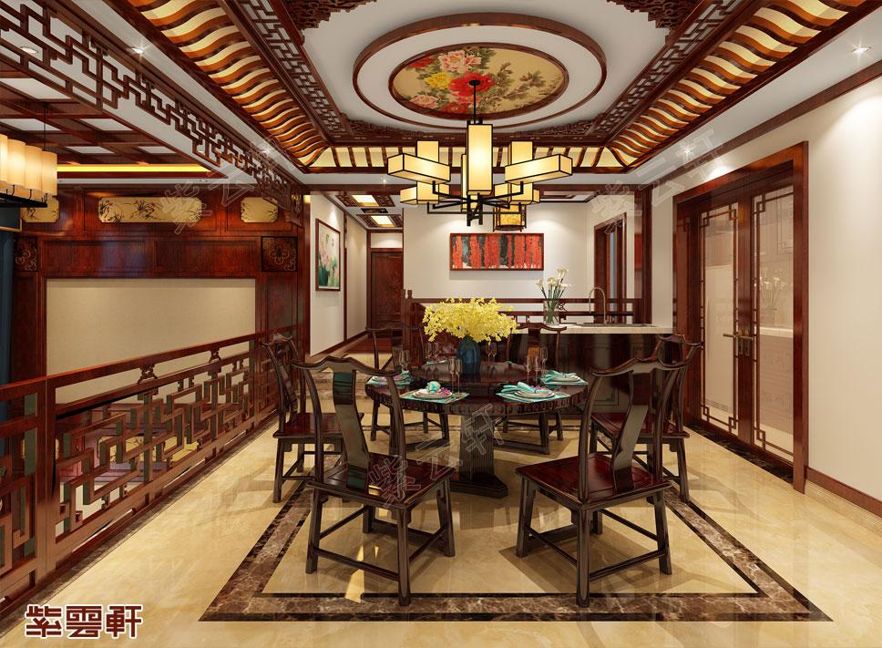 山东日照市别墅中式装修 传承古典风情