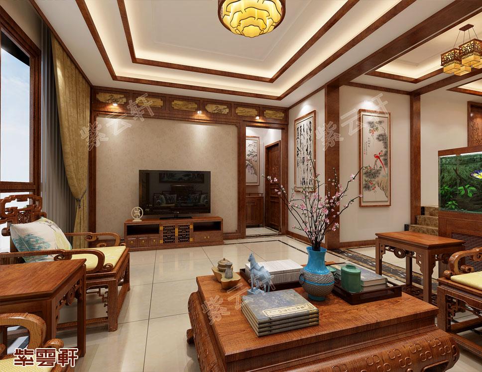 河北沧州市平层中式装修 典雅有韵味