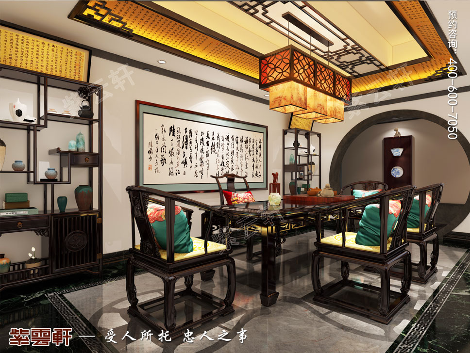 古窗画韵、禅韵小景——南京市大气古典中式会所