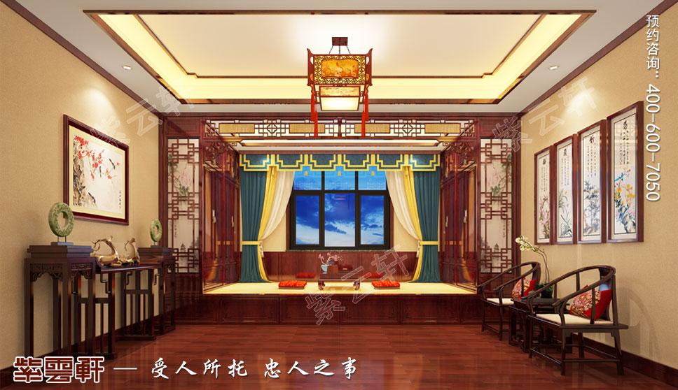 雅韵风骨,理想之居——陕西省榆林市别墅中式装修