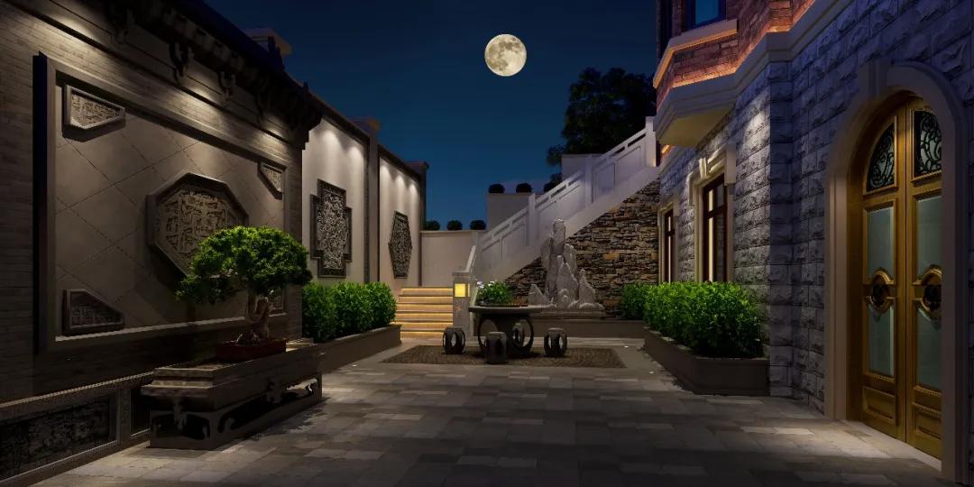 带院子的古典中式风别墅!