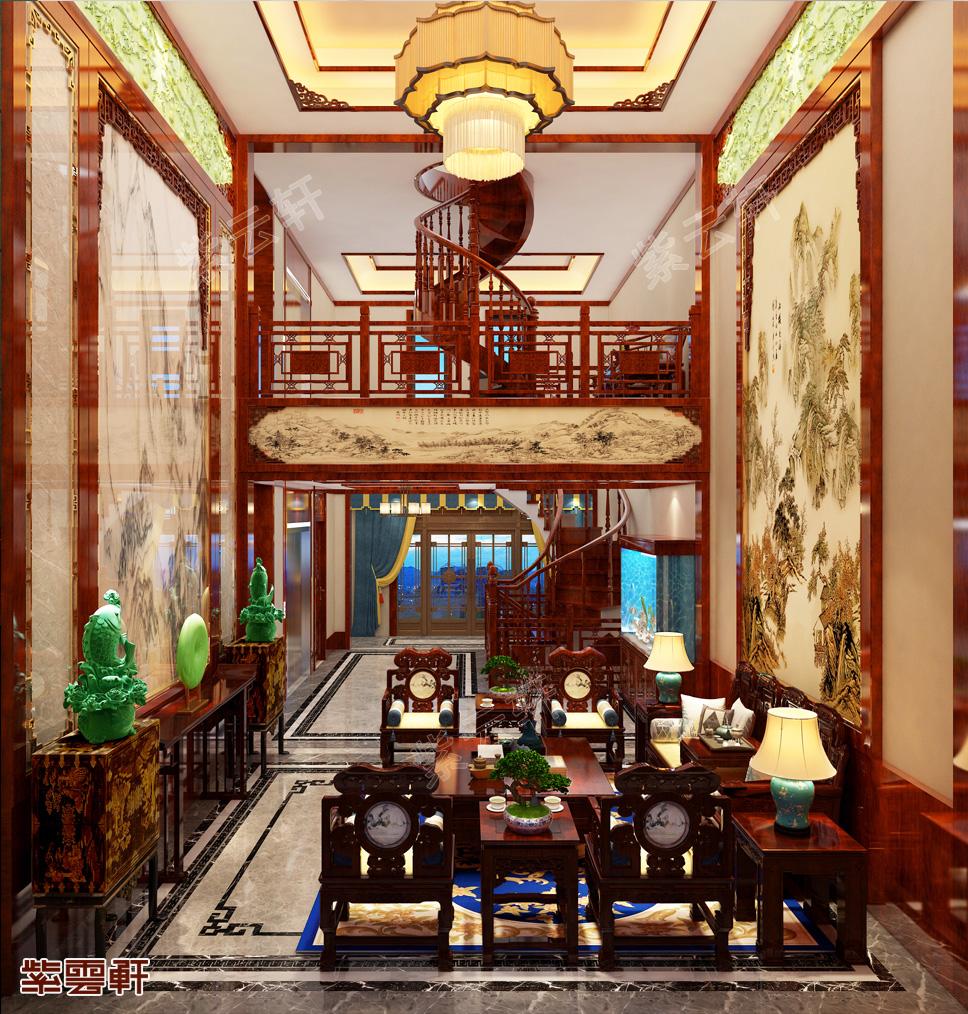 千年风雅、大气儒美的武汉市别墅中式装修!