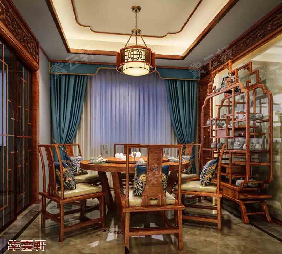 淮安古典风格中式别墅装修-——唤取九霞飞佩,夜凉跨鹤吹笙