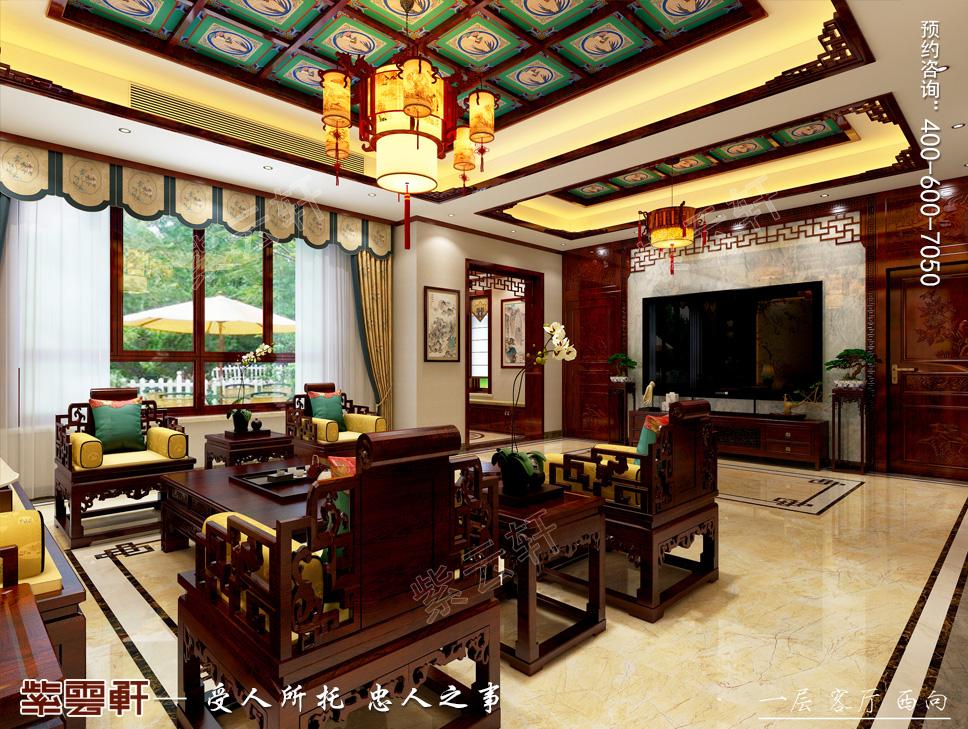 张家口中式别墅装修,充满艺术感的大宅风范