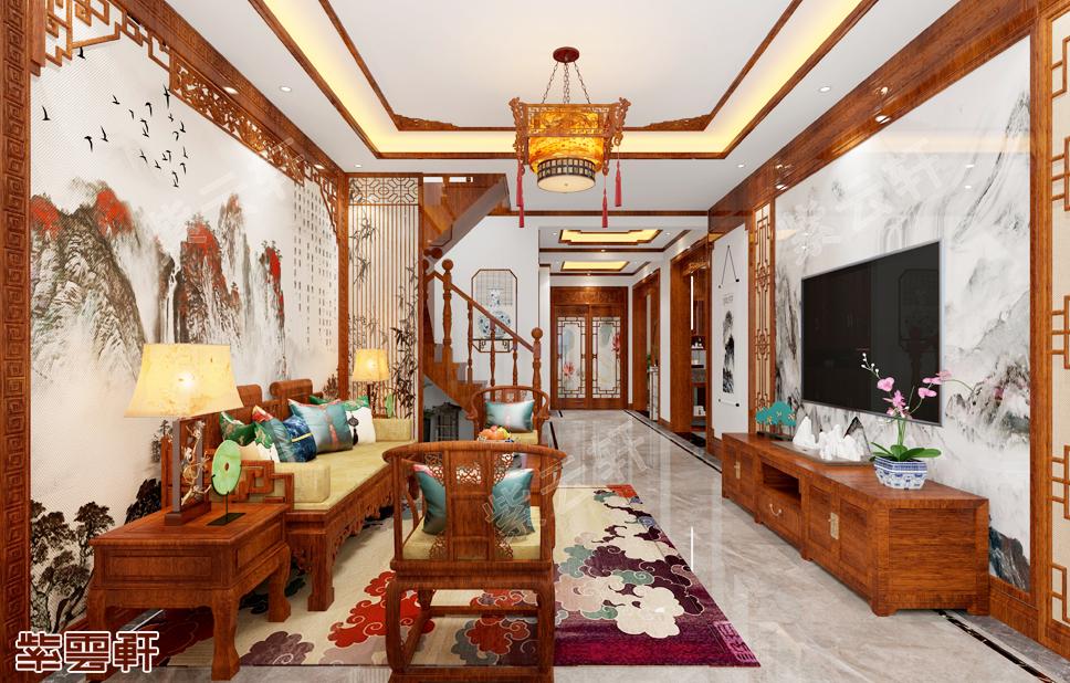 如诗如画般的中式客厅装修,充满古典韵味