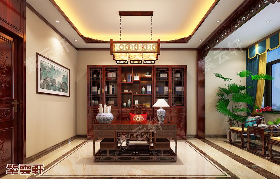 雅韵古典的中式装修书房设计图样