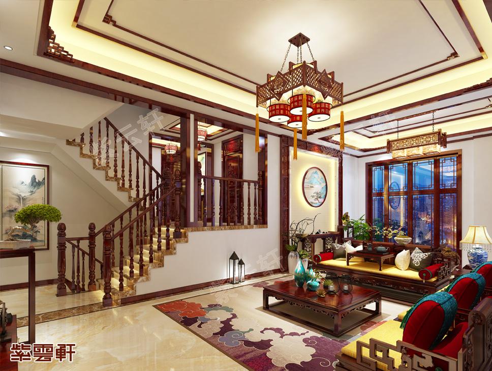 中式楼梯间图片