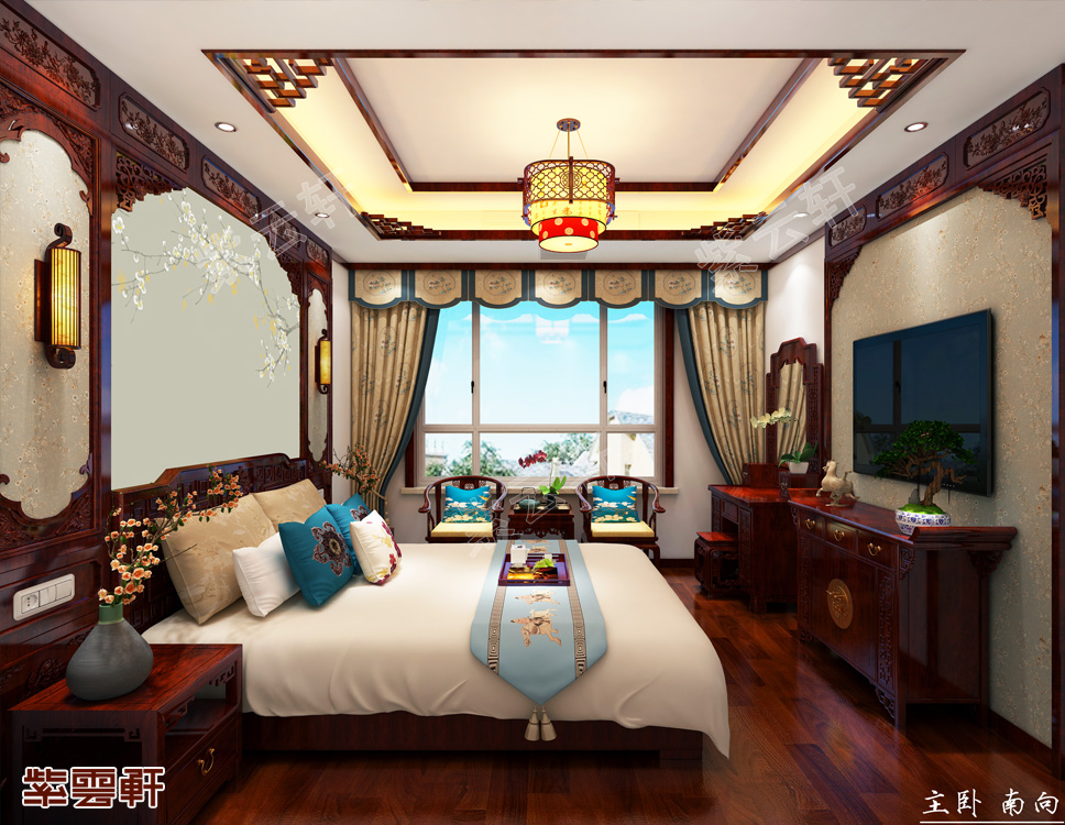卧室中式装饰