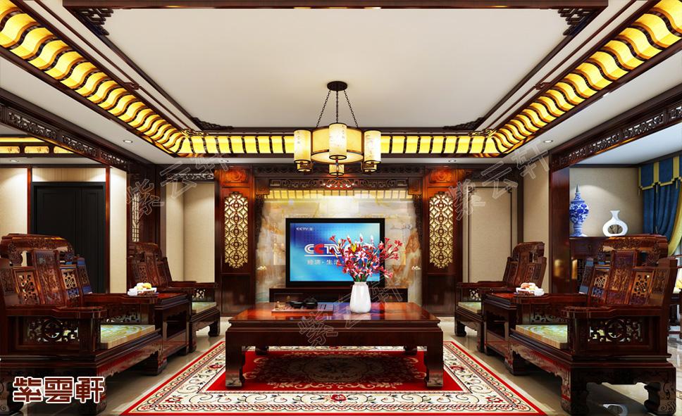 葫芦岛中式装修豪宅,把家装成这样,朋友见了都眼红