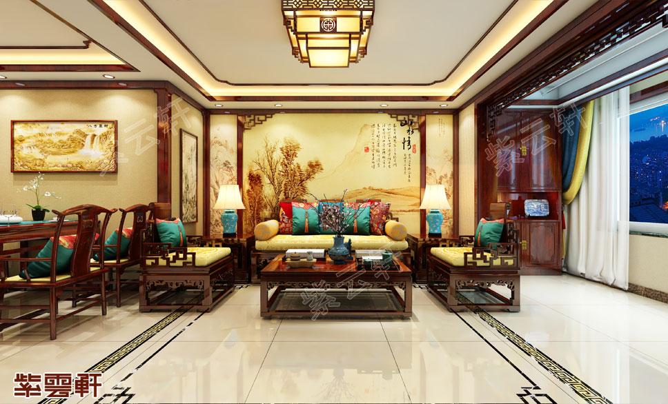 廊坊住宅中式装修,尽显奢华品味