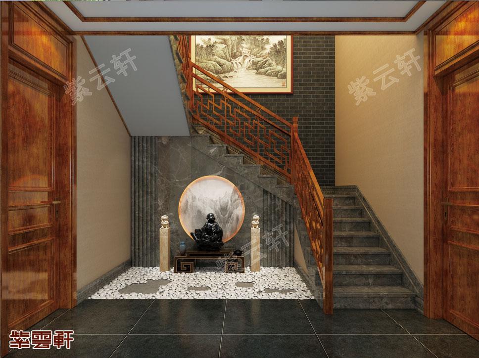 中式风格楼梯间