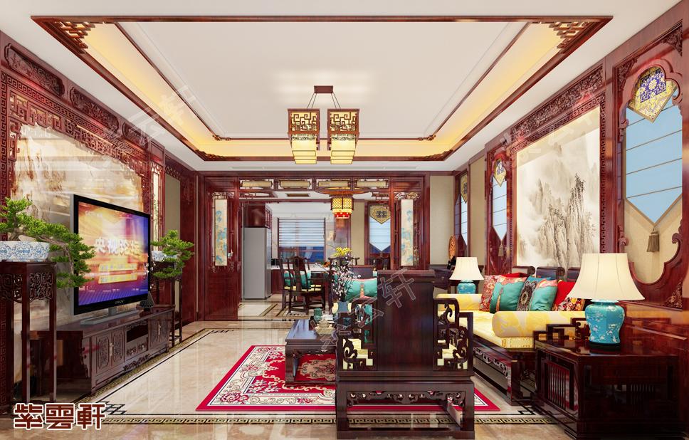 青岛中式装修别墅,全屋好看的不得了