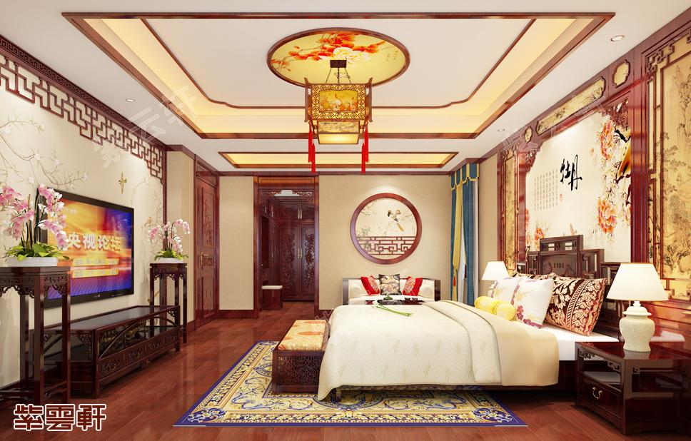 中式装修卧室图片
