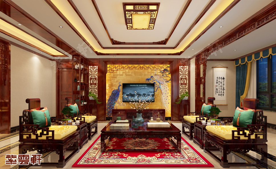 中式装修豪宅,一家人的世外桃源