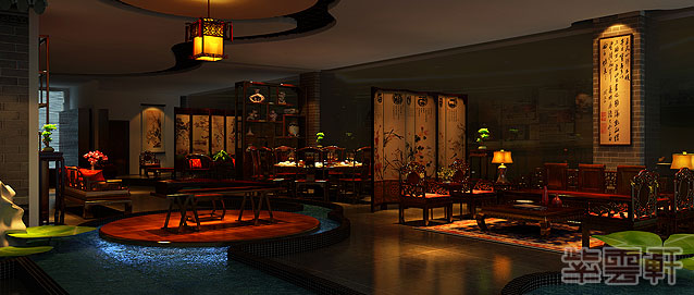 红木家具体验馆中式装修风格案例