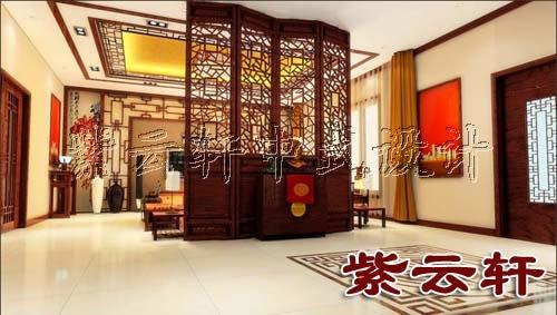 新中式玄关木雕隔断