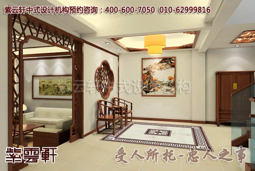 江南古典风格_李宅简约中式别墅装修案例; 古典简约中式设计-江南