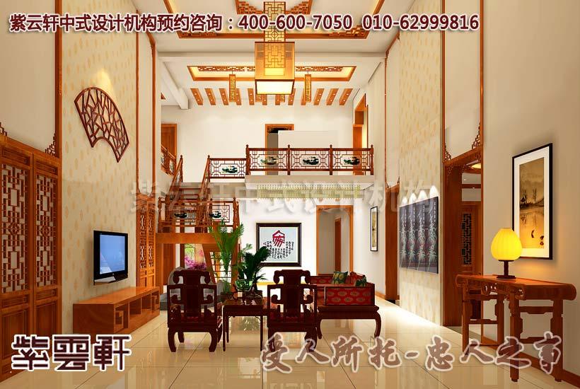 别墅中式装修-客厅中式装饰
