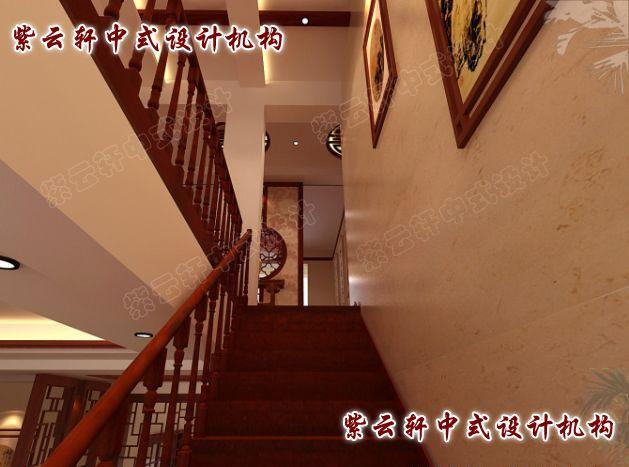 现代中式风格设计图片-楼梯间