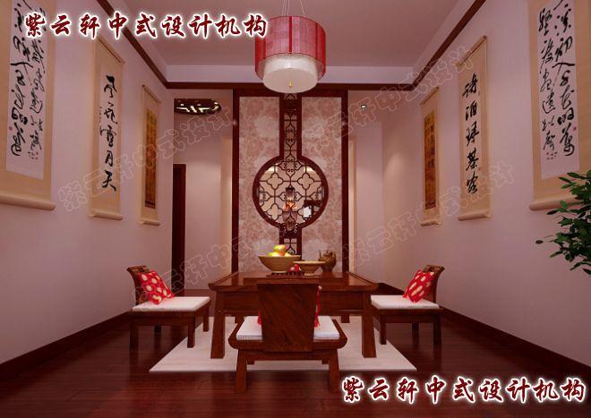 现代中式风格设计图片-茶室
