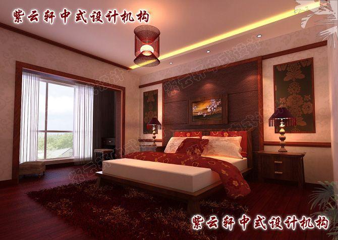 现代中式风格设计图片-主卧室