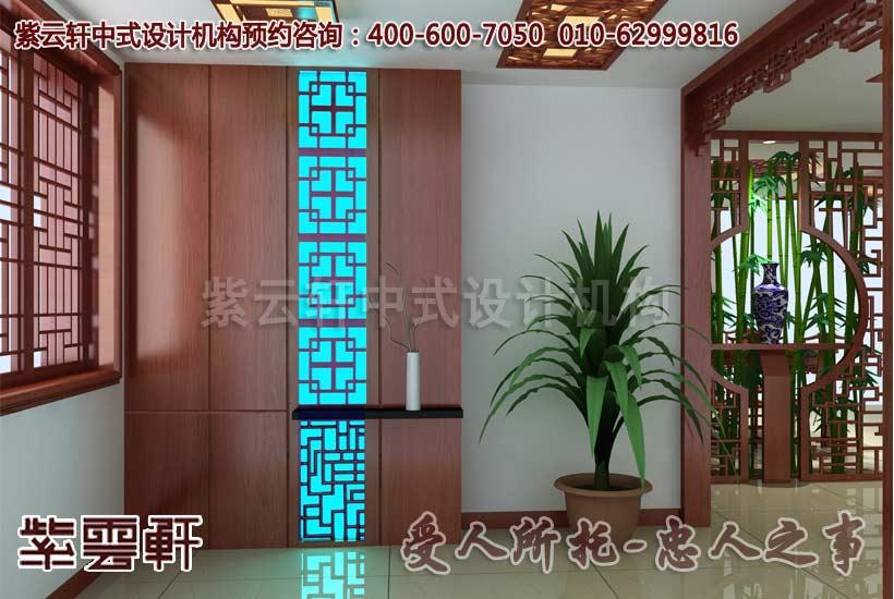 现代中式玄关设计图片