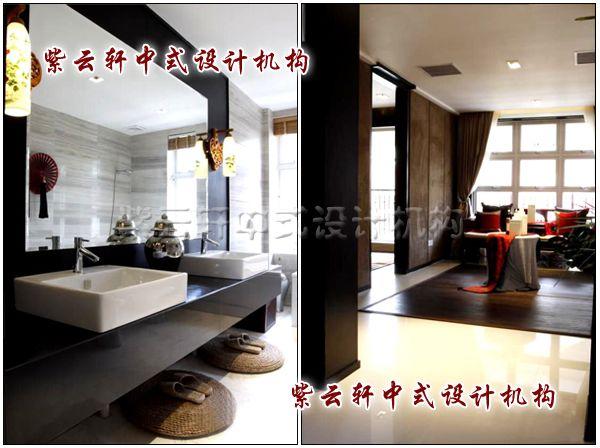 新中式装修风格设计之客厅卫生间