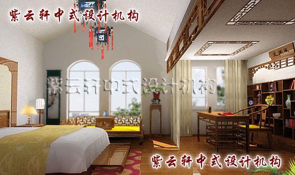 简约中式装修设计之卧室图片