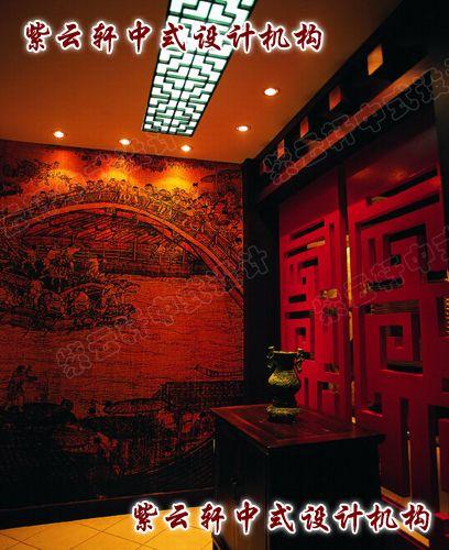 茶楼中式装修设计之大厅一角:气势出于感觉