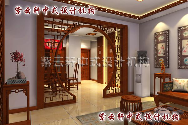 新中式装修设计客厅角度:空间层次的转变