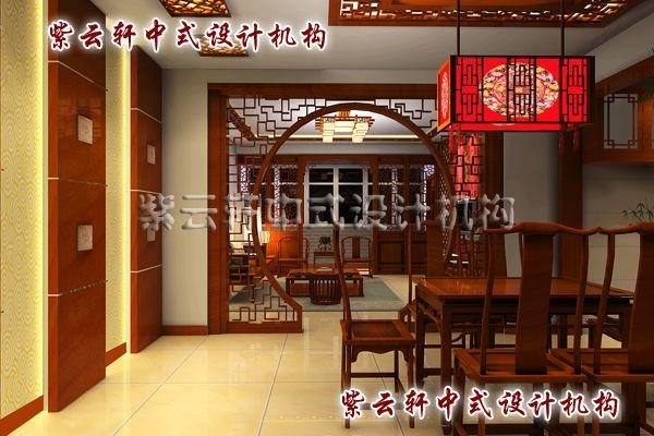 新中式装修设计之餐厅角度:把苏州园林的借景巧妙应用其中