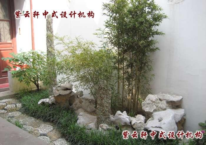 中式庭院小景手绘