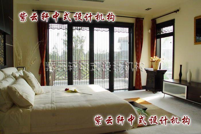 现代中式装修设计之主卧室:简洁、温馨