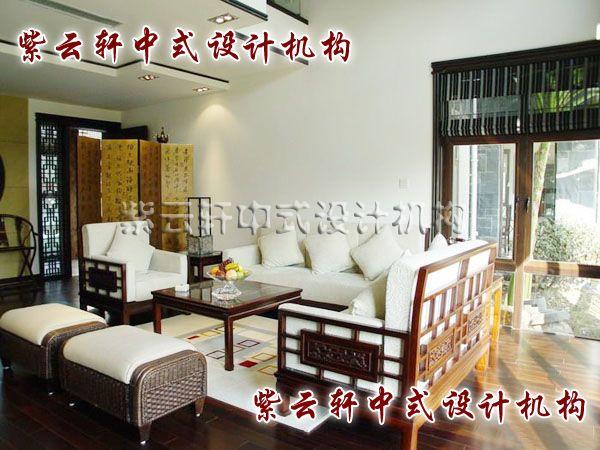 江南豪宅中式装修设计客厅角度